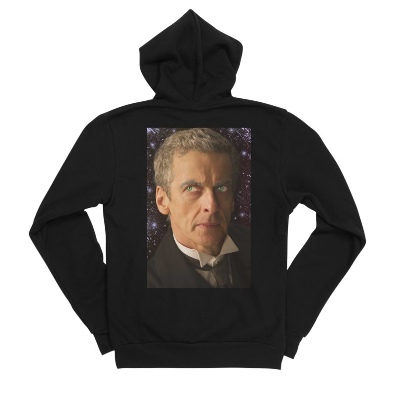 Dr Who 12th Men's Sponge Fleece Zip-Up Hoody by EvoComicsInc's Artist Shop
