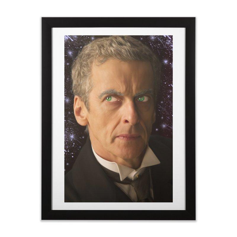 Dr Who 12th Home Framed Fine Art Print by EvoComicsInc's Artist Shop
