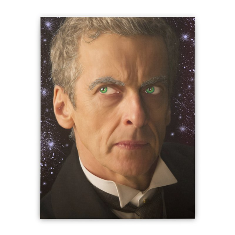 Dr Who 12th Home Stretched Canvas by EvoComicsInc's Artist Shop