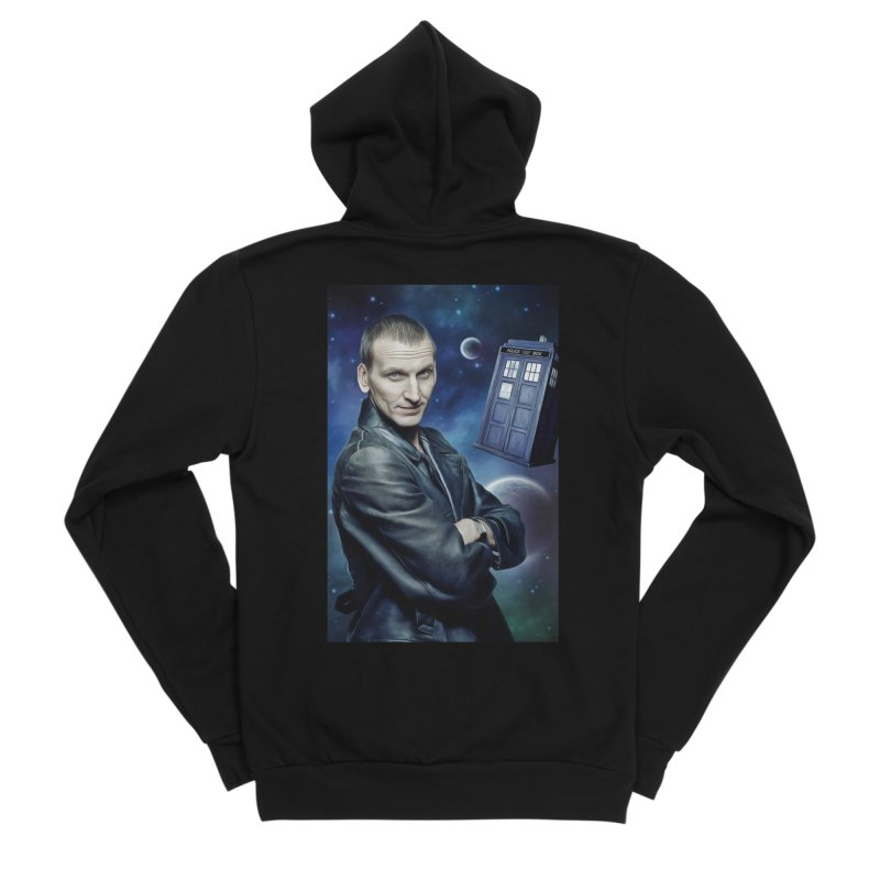 Dr Who 9th Men's Sponge Fleece Zip-Up Hoody by EvoComicsInc's Artist Shop