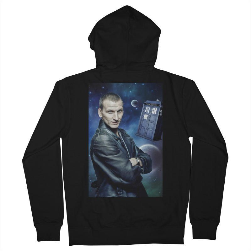 Dr Who 9th Women's French Terry Zip-Up Hoody by EvoComicsInc's Artist Shop