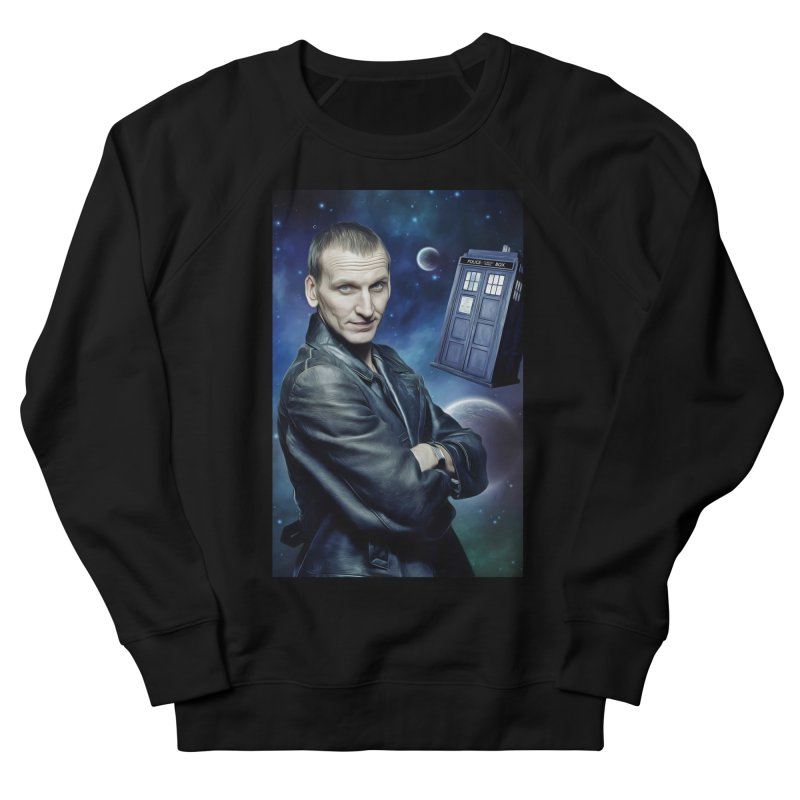 Dr Who 9th Women's French Terry Sweatshirt by EvoComicsInc's Artist Shop