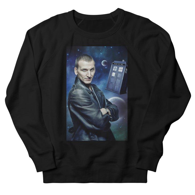 Dr Who 9th Men's French Terry Sweatshirt by EvoComicsInc's Artist Shop