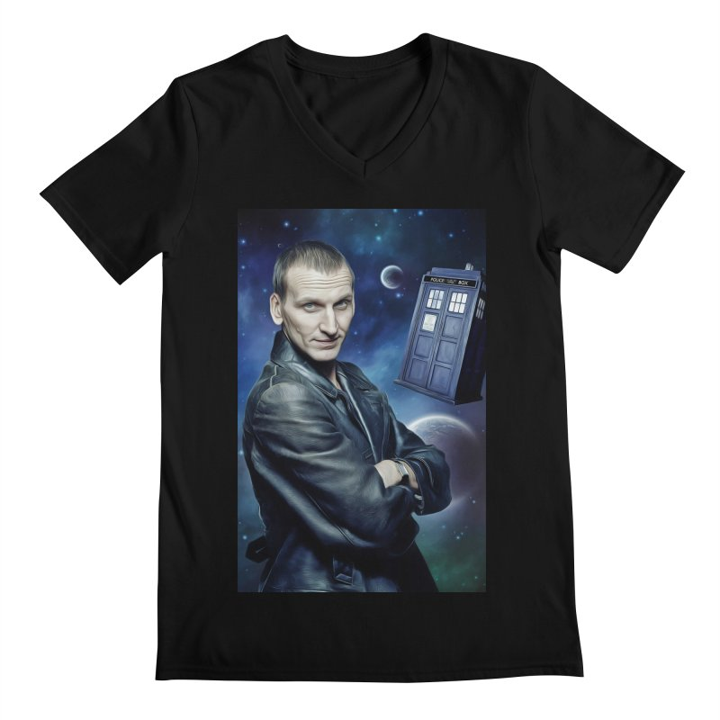Dr Who 9th Men's Regular V-Neck by EvoComicsInc's Artist Shop