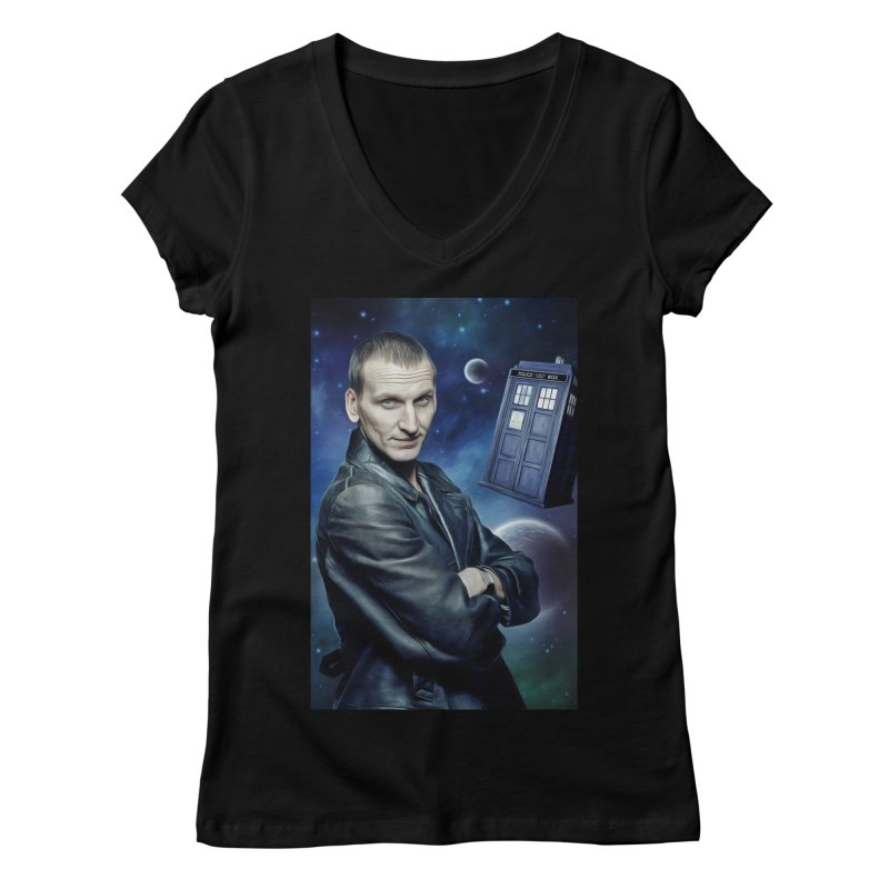 Dr Who 9th Women's Regular V-Neck by EvoComicsInc's Artist Shop