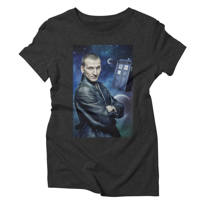 Dr Who 9th Women's Triblend T-Shirt by Evolution Comics INC