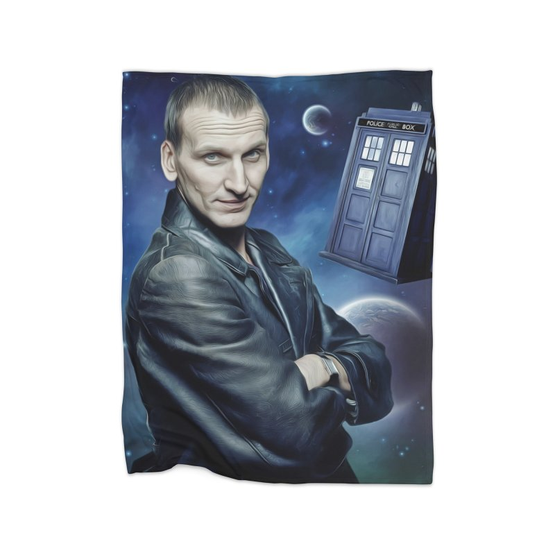 Dr Who 9th Home Fleece Blanket Blanket by Evolution Comics INC
