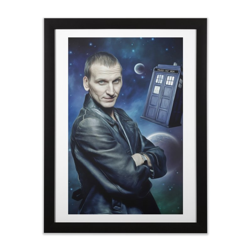 Dr Who 9th Home Framed Fine Art Print by EvoComicsInc's Artist Shop