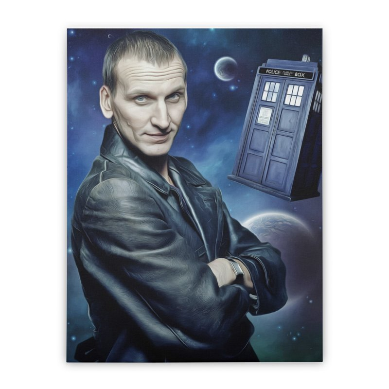 Dr Who 9th Home Stretched Canvas by EvoComicsInc's Artist Shop