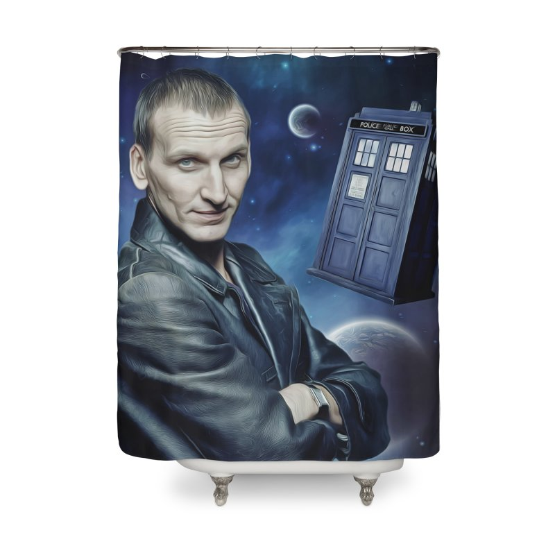 Dr Who 9th Home Shower Curtain by Evolution Comics INC