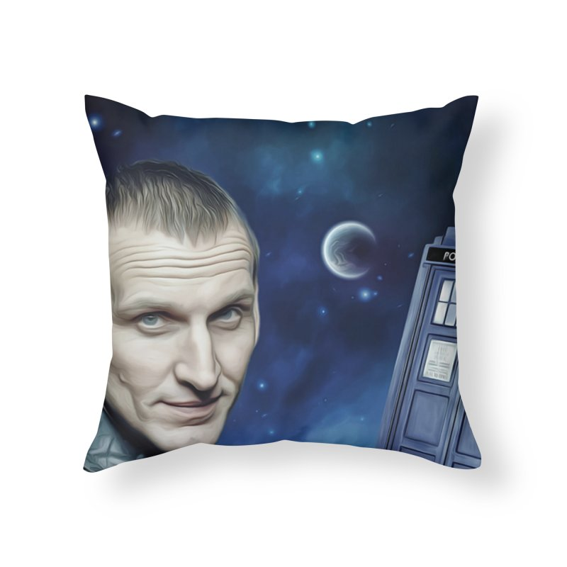 Dr Who 9th Home Throw Pillow by Evolution Comics INC