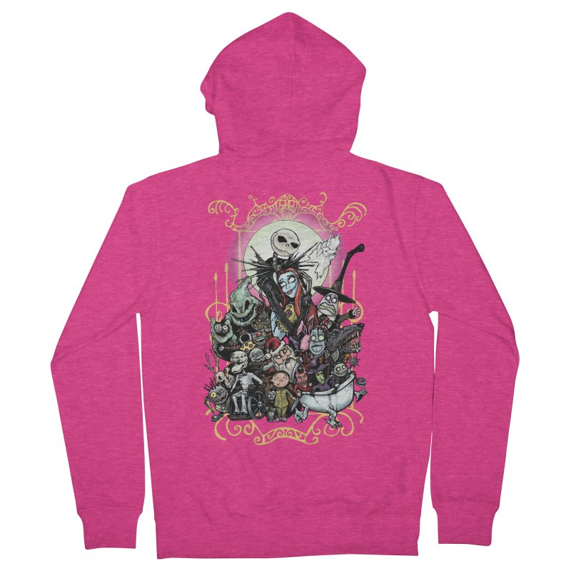 Nightmare Before Christmas Women's French Terry Zip-Up Hoody by EvoComicsInc's Artist Shop