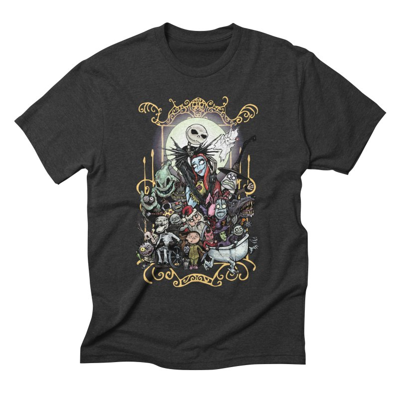 Nightmare Before Christmas Men's Triblend T-Shirt by EvoComicsInc's Artist Shop
