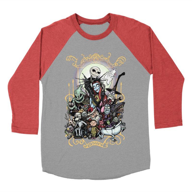 Nightmare Before Christmas Women's Baseball Triblend Longsleeve T-Shirt by Evolution Comics INC