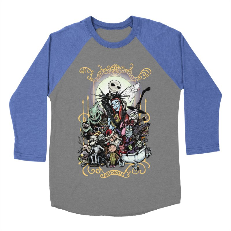 Nightmare Before Christmas Men's Baseball Triblend Longsleeve T-Shirt by Evolution Comics INC