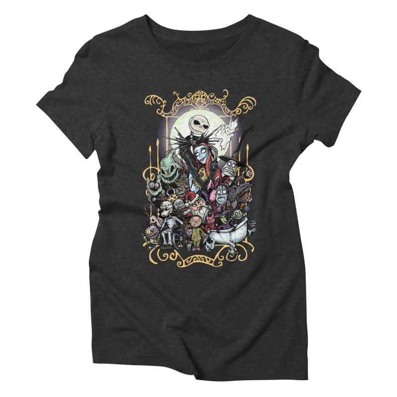 Nightmare Before Christmas Women's Triblend T-Shirt by Evolution Comics INC