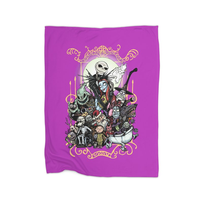 Nightmare Before Christmas Home Fleece Blanket Blanket by Evolution Comics INC