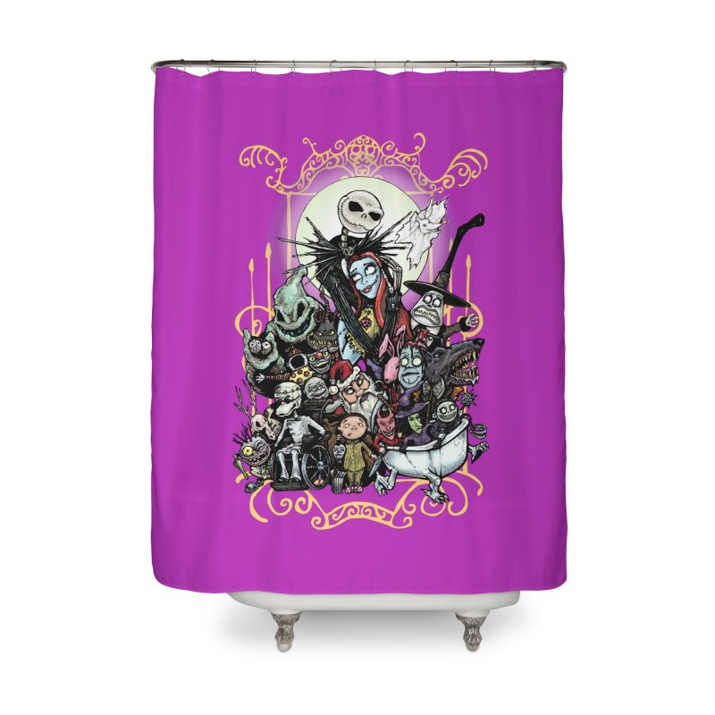 Nightmare Before Christmas Home Shower Curtain by Evolution Comics INC