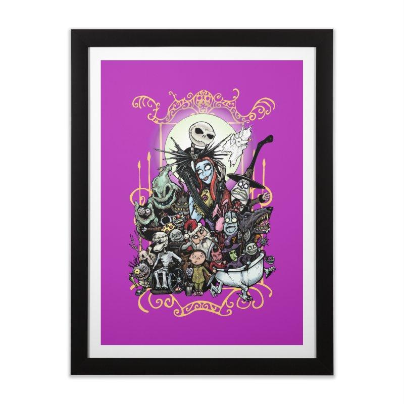 Nightmare Before Christmas Home Framed Fine Art Print by EvoComicsInc's Artist Shop