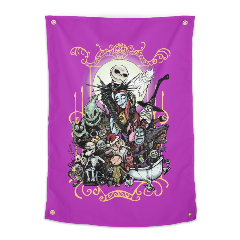 Nightmare Before Christmas Home Tapestry by Evolution Comics INC