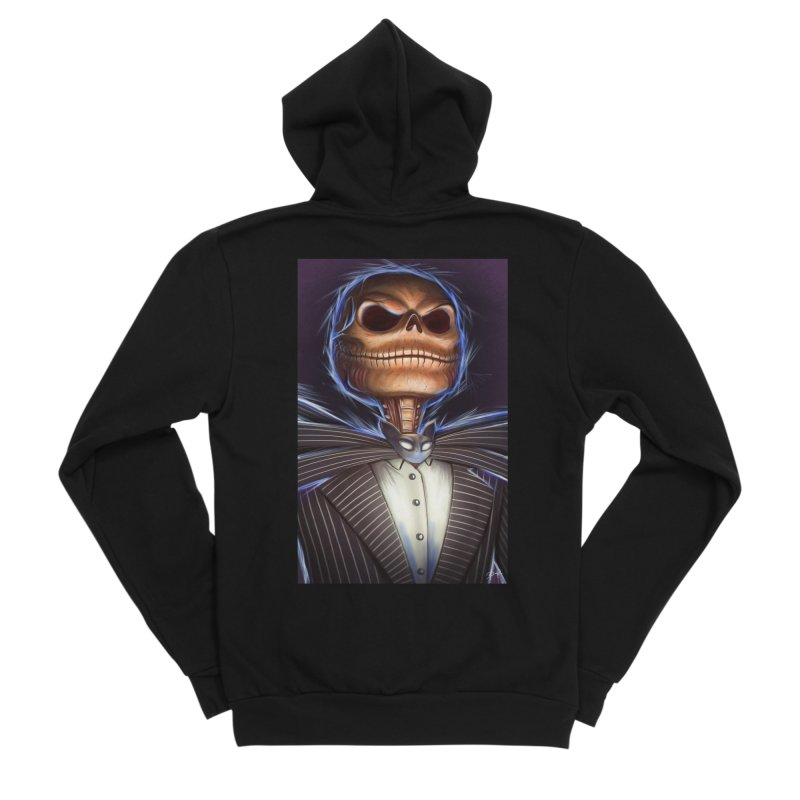 Nightmare Before Christmas - Jack Men's Sponge Fleece Zip-Up Hoody by EvoComicsInc's Artist Shop