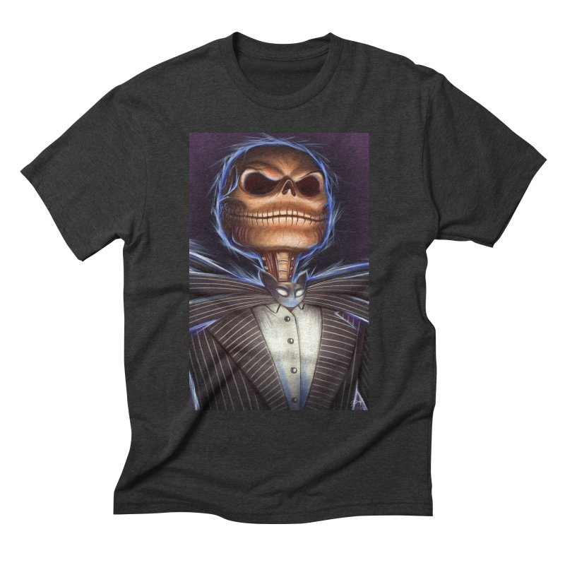Nightmare Before Christmas - Jack Men's Triblend T-Shirt by Evolution Comics INC