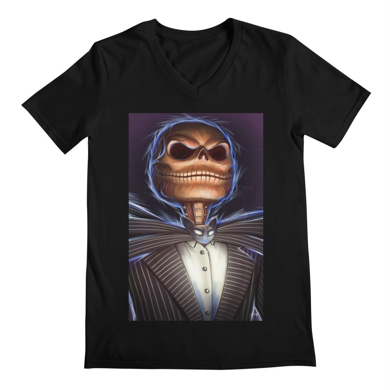 Nightmare Before Christmas - Jack Men's Regular V-Neck by EvoComicsInc's Artist Shop