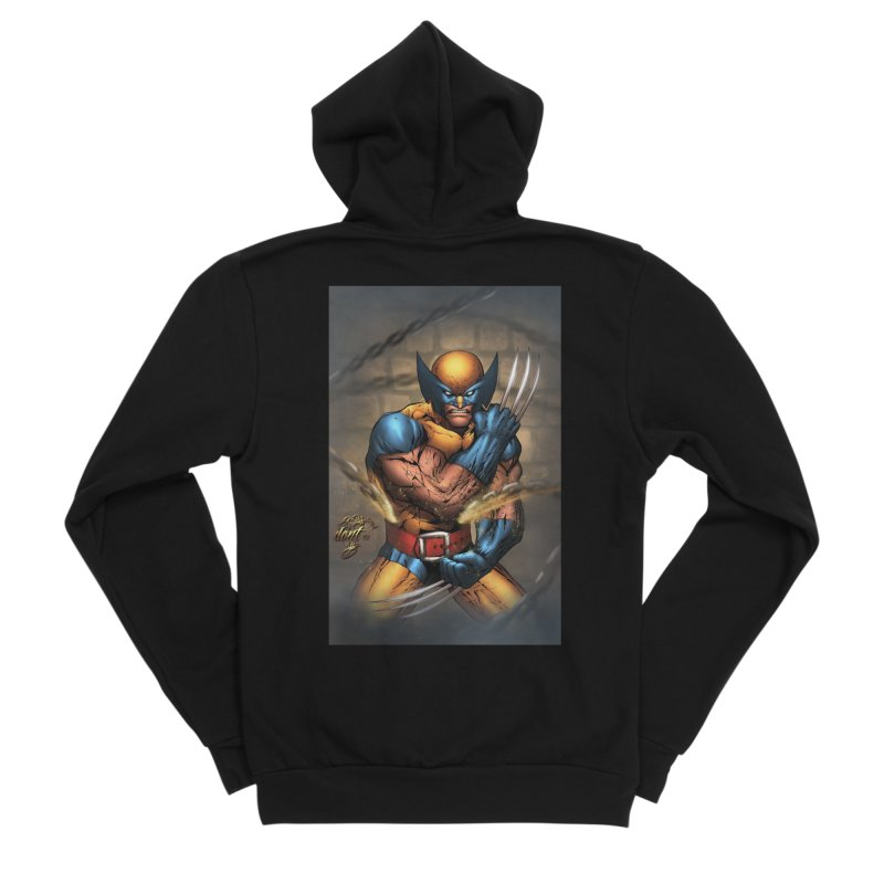 Wolverine Men's Sponge Fleece Zip-Up Hoody by EvoComicsInc's Artist Shop