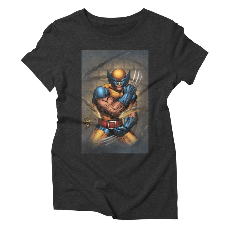 Wolverine Women's Triblend T-Shirt by Evolution Comics INC