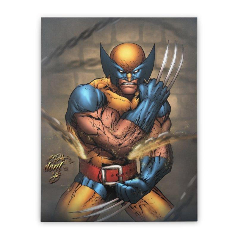Wolverine Home Stretched Canvas by EvoComicsInc's Artist Shop