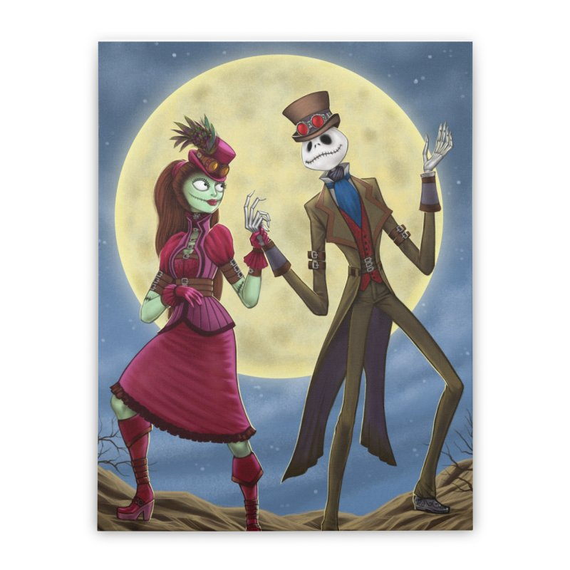 Nightmare Before Christmas (Steam Punk) Home Stretched Canvas by EvoComicsInc's Artist Shop