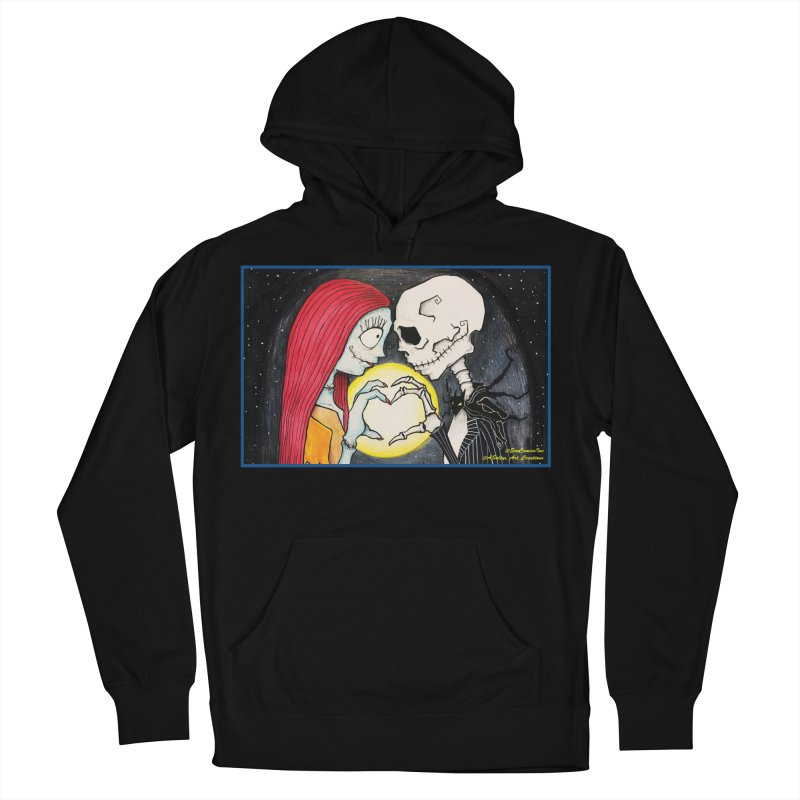 Nightmare Before Christmas - Jack and Sally in Love Women's French Terry Pullover Hoody by Evolution Comics INC