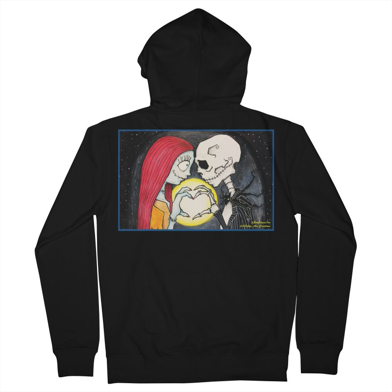 Nightmare Before Christmas - Jack and Sally in Love Women's French Terry Zip-Up Hoody by Evolution Comics INC