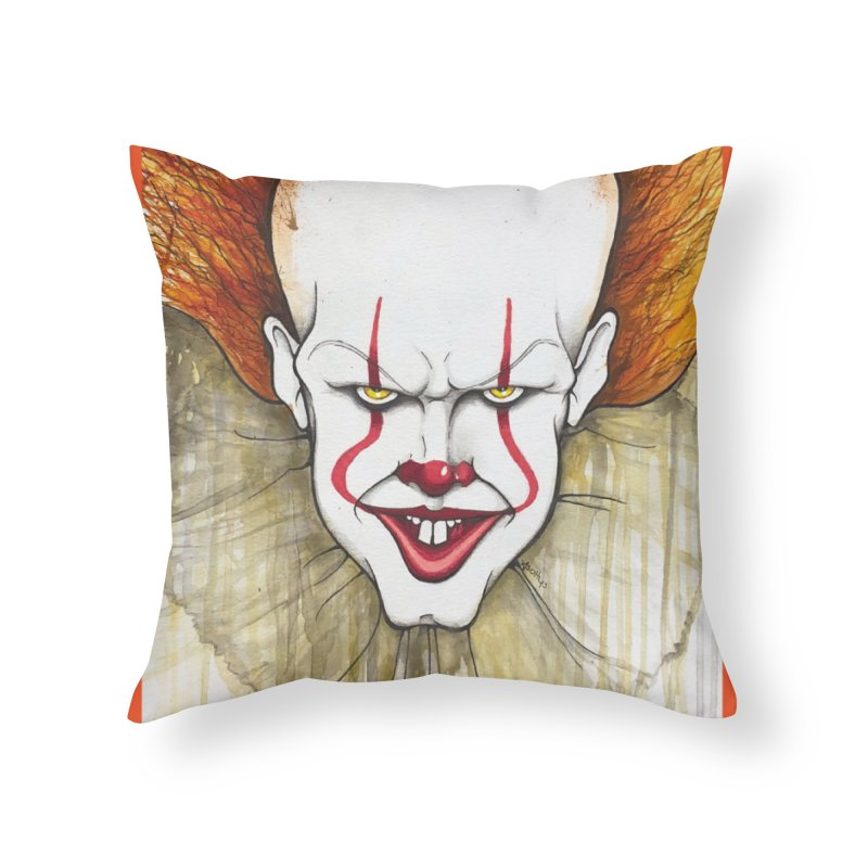 Pennywise 2017 Home Throw Pillow by Evolution Comics INC