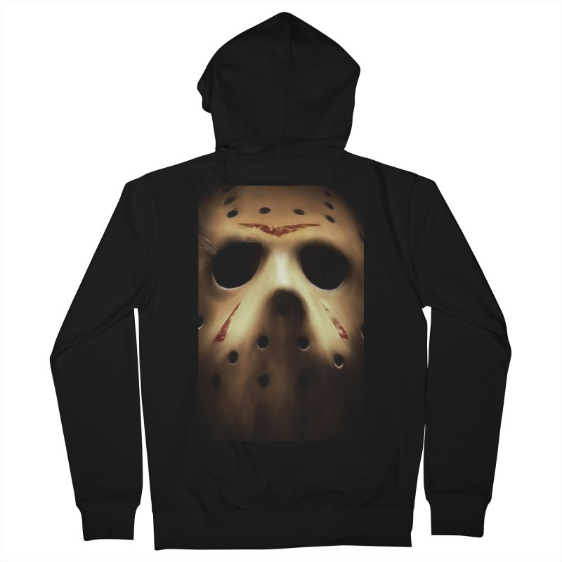 Jason Voorhees Men's French Terry Zip-Up Hoody by Evolution Comics INC