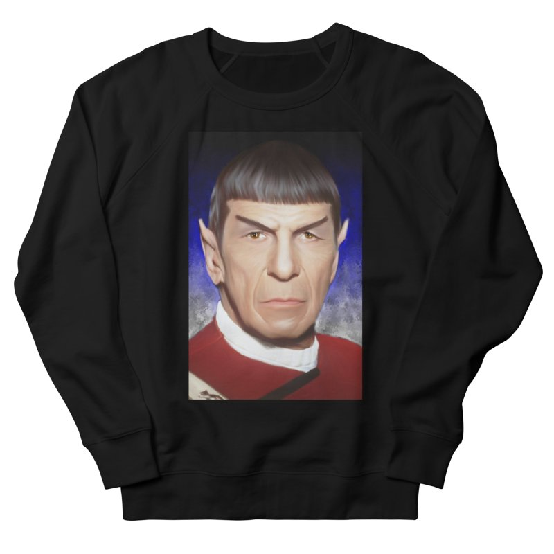 Star Trek - Spock Men's French Terry Sweatshirt by Evolution Comics INC