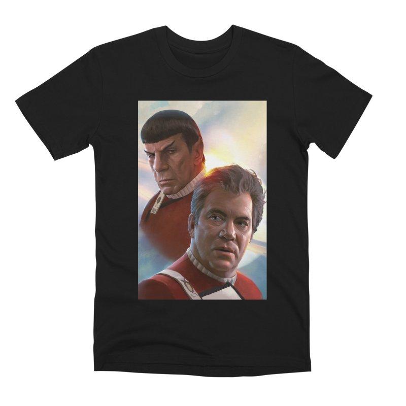 Star Trek - Kirk and Spock Men's Premium T-Shirt by Evolution Comics INC
