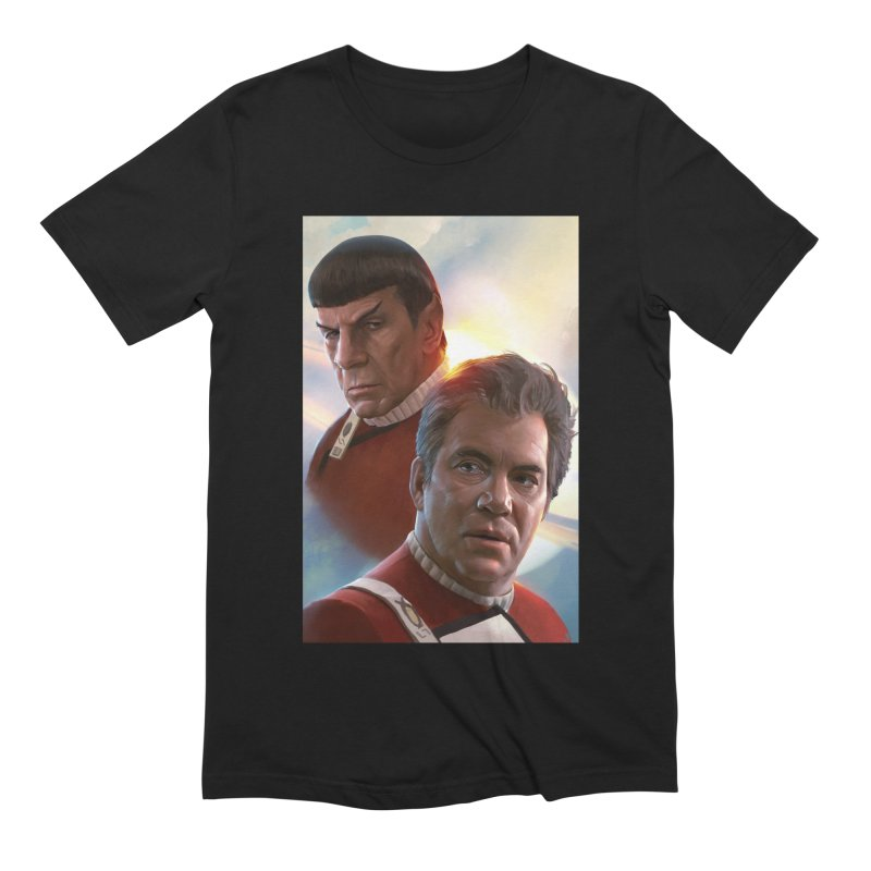 Star Trek - Kirk and Spock Men's Extra Soft T-Shirt by Evolution Comics INC