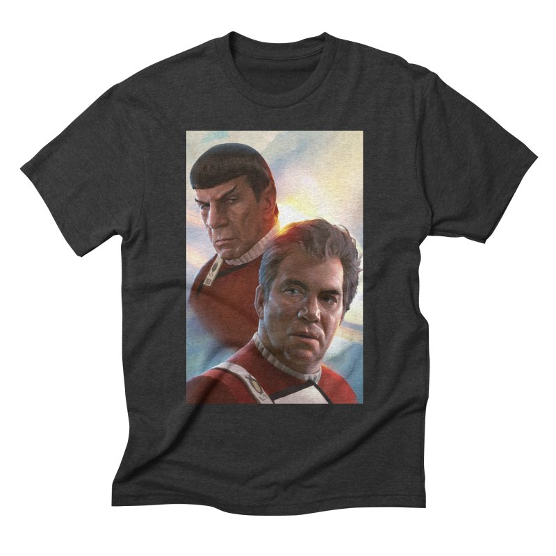 Star Trek - Kirk and Spock Men's Triblend T-Shirt by Evolution Comics INC