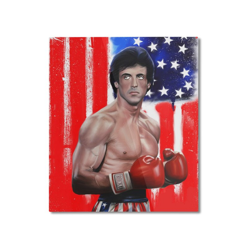 Rocky Home Mounted Aluminum Print by Evolution Comics INC