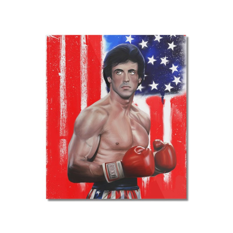 Rocky Home Mounted Acrylic Print by Evolution Comics INC