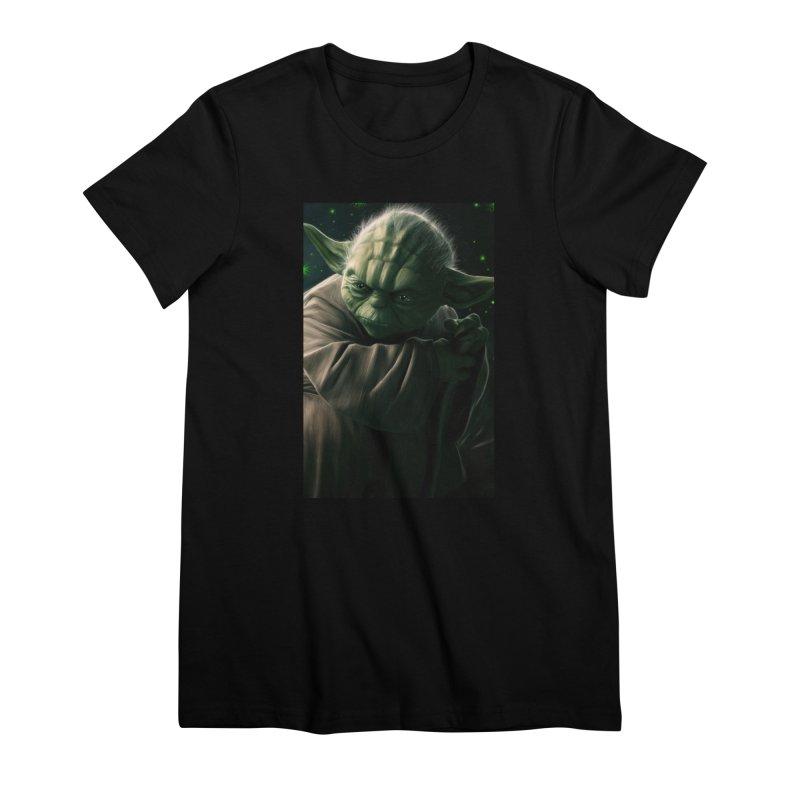 Star Wars - Yoda Women's Premium T-Shirt by Evolution Comics INC