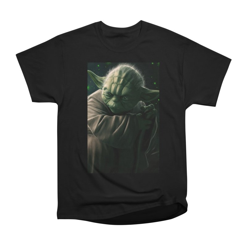 Star Wars - Yoda Women's Heavyweight Unisex T-Shirt by Evolution Comics INC