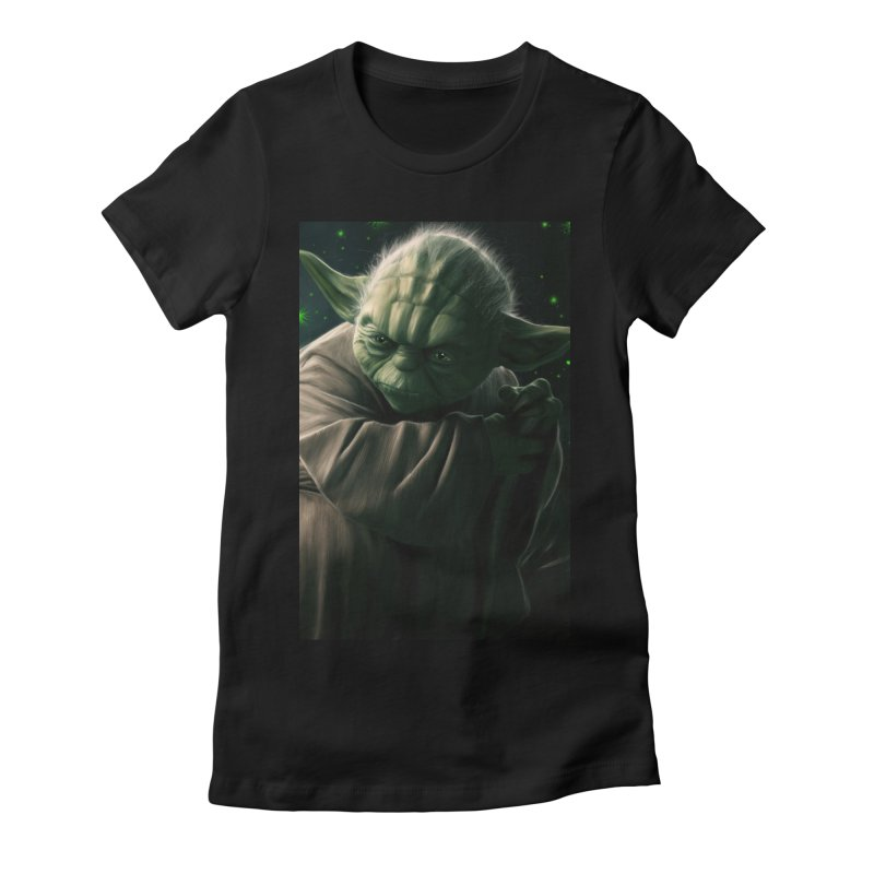 Star Wars - Yoda Women's Fitted T-Shirt by Evolution Comics INC