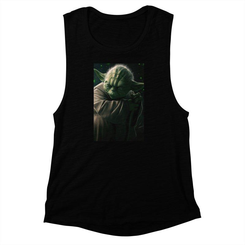 Star Wars - Yoda Women's Muscle Tank by Evolution Comics INC