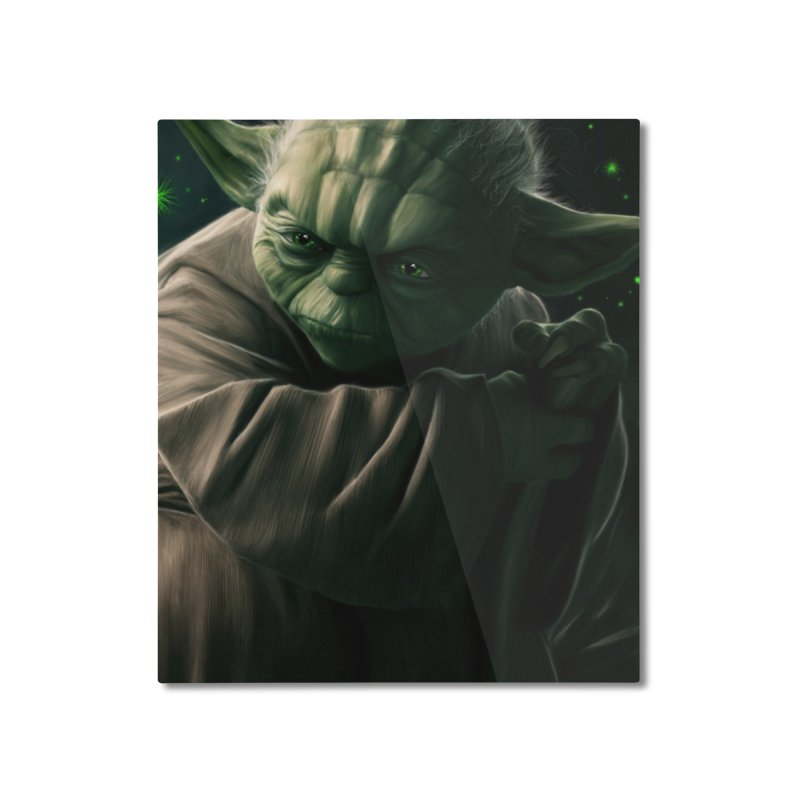 Star Wars - Yoda Home Mounted Aluminum Print by Evolution Comics INC
