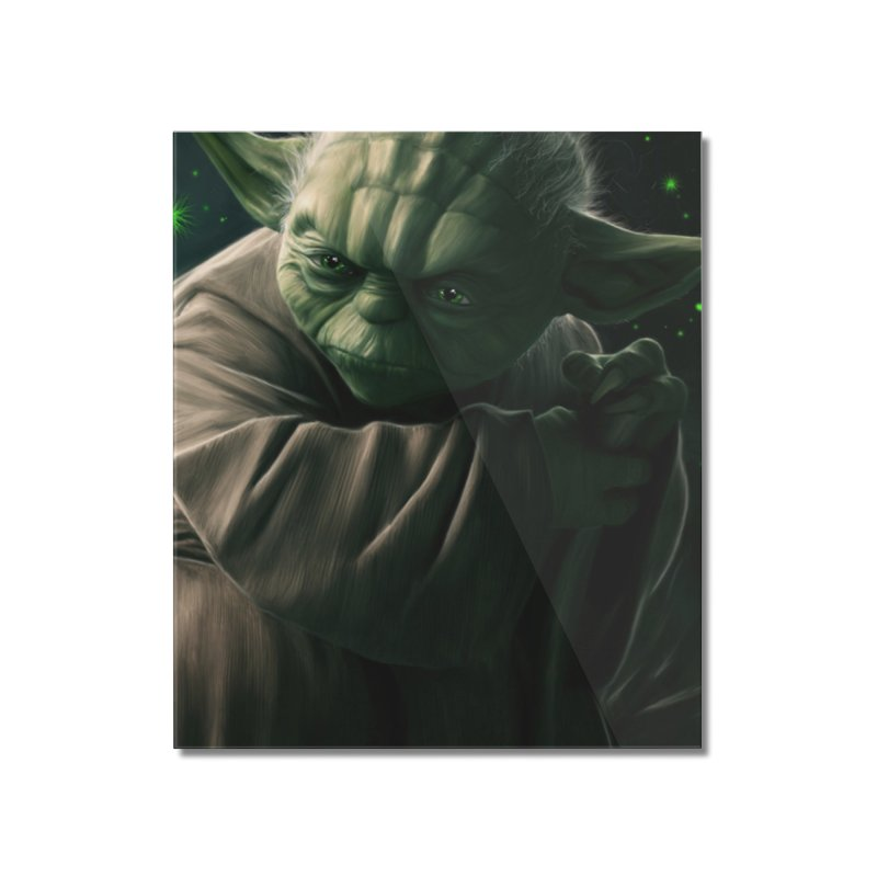 Star Wars - Yoda Home Mounted Acrylic Print by Evolution Comics INC