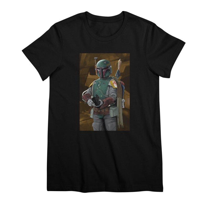 Star Wars - Boba Fett Women's Premium T-Shirt by Evolution Comics INC