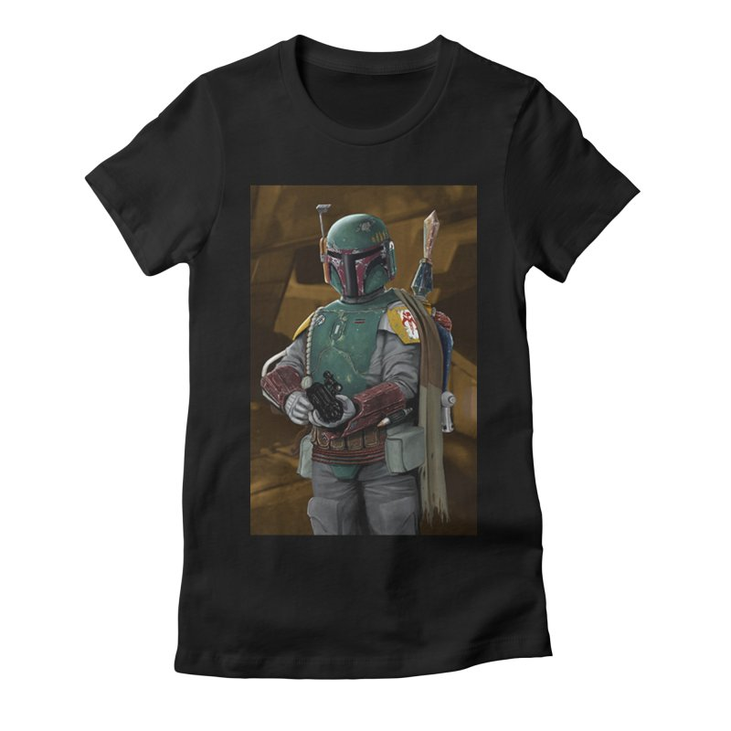 Star Wars - Boba Fett Women's Fitted T-Shirt by Evolution Comics INC