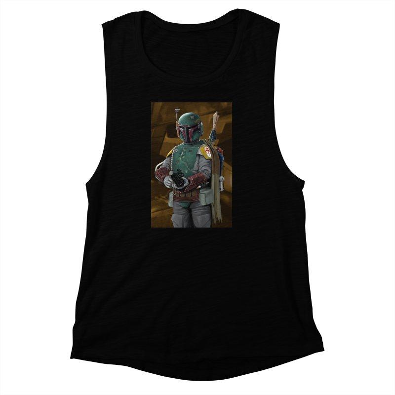 Star Wars - Boba Fett Women's Muscle Tank by Evolution Comics INC